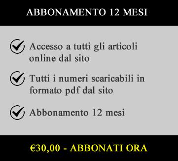 €30,00 Abbonamento 12 mesi