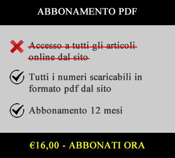 €16,00 Abbonamento 12 mesi PDF